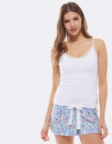 Deshabille Art Deco Pj Short Blue