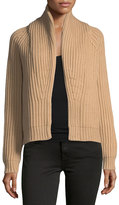 Vince Cropped Cable-Knit Cardigan