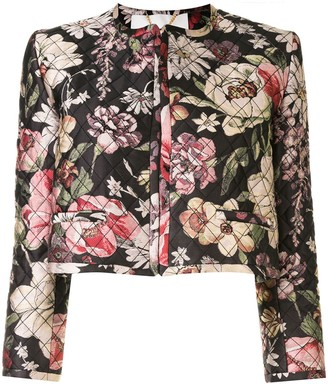Adam Lippes Quilted Floral Jacket