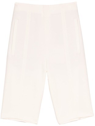 Tibi Anson Stretch High Waisted Biker Short in Ivory