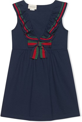 Gucci Kids Children's cotton piquet dress with bow
