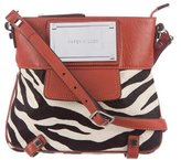 Karen Millen Leather-Trimmed Ponyhair Crossbody Bag