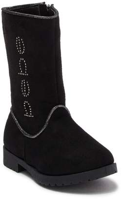 Bebe Microsuede Branded Studded Tall Boot (Toddler)