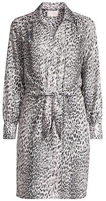 Brochu Walker Madsen Leopard Print Shirtdress