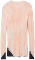 Proenza Schouler Tie Dye Long Sleeve Sweater in Dark Salmon/Black