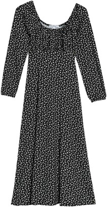 Velvet Torch Floral Empire Waist Midi Dress