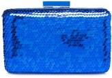 Oscar de la Renta Sapphire Sequin Rogan Box Clutch