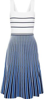 Diane von Furstenberg Yasmin Pleated Striped Knitted Dress