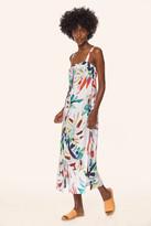 Mara Hoffman Button Up Sheath Midi Dress