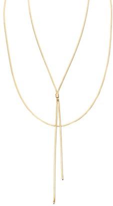 Lana Blake 14K Yellow Liquid Gold Duo Lariat Necklace