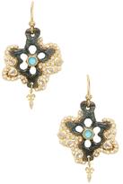 Armenta 18K Gold, Turquoise, Moonstone & 0.36 Total Ct. Diamond Star Artifact Earrings