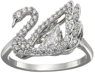 Swarovski Dancing Swan Ring (CZ White) Ring