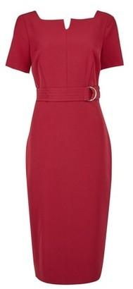Dorothy Perkins Womens Raspberry Square Neck Pencil Dress