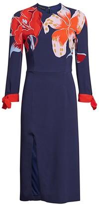 Etro Lily-Print Midi Dress