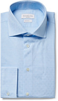 Richard James - Blue Cutaway-collar Cotton-jacquard Shirt