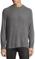 Ovadia & Sons Patch-Trim Crewneck Sweater, Gray