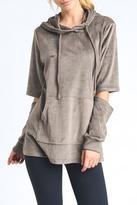 Mono B Cutout Velour Hoodie Jacket