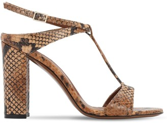 L'Autre Chose 95mm Python Print Leather Sandals