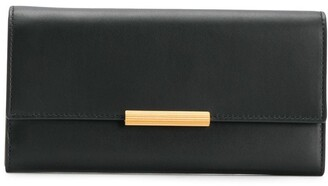 Bottega Veneta engraved closure continental wallet