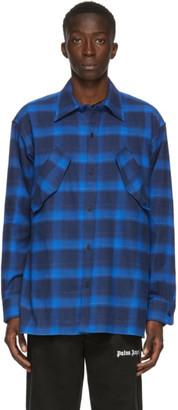 Marcelo Burlon County of Milan Blue CountyScript Shirt