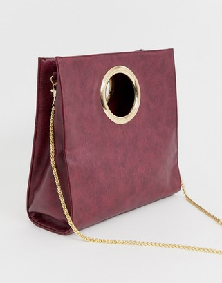 Chateau Folding Bag with Chain-Purple