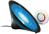 Philips LivingColors Aura Colour Changing Mood Light (Integrated 1 x 8 W LED Bulb, Remote Control) - Black