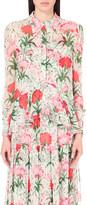 Erdem Liya floral-print silk shirt