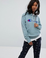 Champion Pull Over Hoodie With Front Logo