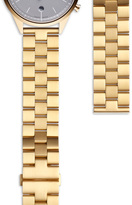 Uniform Wares Women's linked watch bracelet with butterfly clasp in PVD yellow gold