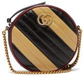 Gucci GG Marmont Circular Leather Cross-body Bag - Womens - Black Beige