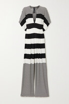 Thumbnail for your product : Norma Kamali Striped Stretch-crepe Jumpsuit - Black