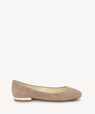 Jessica Simpson Women's Ginly Block Heels Flats Warm Taupe Size 5 Leather From Sole Society