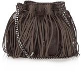 Stella McCartney Falabella fringed faux-suede bucket bag