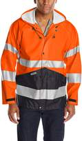 JOBMAN Workwear Men's High Visibility Raincoat