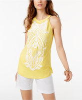 INC International Concepts Soutache-Trim Halter Top, Only at Macy's
