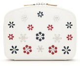 Wolf Blossom Leather Travel Jewelry Case - Ivory