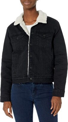 Lucky Brand Women's Tomboy Sherpa Trucker Denim Jacket
