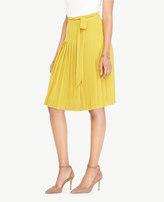 Ann Taylor Pleated Tie-Waist Skirt