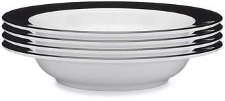 Q Squared Moonbeam Ring Black Melamine 4-Pc. Pasta Bowl Set