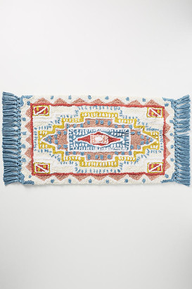 Anthropologie Tufted Ellie Bath Mat By in White Size 21 X 34