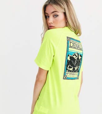 The North Face Faces t-shirt in yellow Exclusive to ASOS