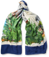 Rubinacci - Tarantella Printed Modal And Silk-blend Scarf
