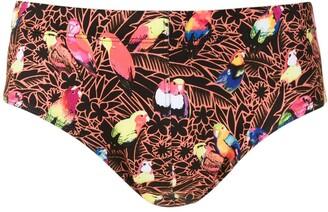 AMIR SLAMA Papagaio print trunks