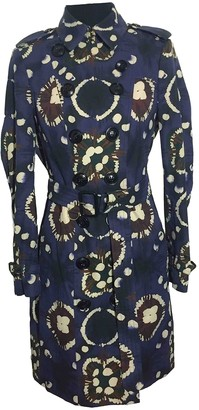 Burberry Blue Cotton Trench Coat for Women