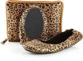 CitySlips Leopard-Print Foldable Ballerina Flats