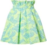 MSGM Brocade A-Line Skirt