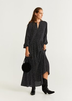 MANGO Polka dots long dress