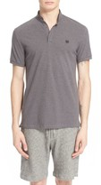 The Kooples Men's Sport Pipe-Trimmed Band Collar Pique Polo