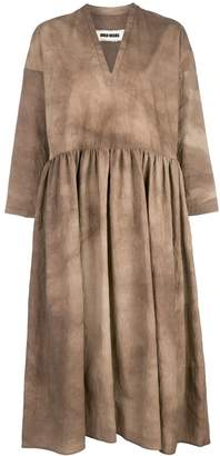 UMA WANG pleated shift dress