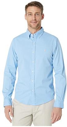 Polo Ralph Lauren Garment Dyed Chino Shirt (Blue) Men's Clothing
